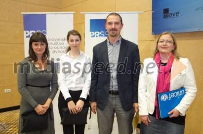 Po okrogli mizi na Slovenski konferenci o odnosih z javnostmi z Lidijo Novak, Anjo Komatar in Mirkom Štularjem
